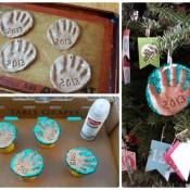 Sparkling Handprint Ornament – Favorite DIYs of 2013